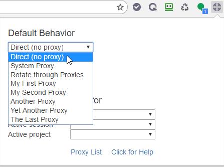 Default Proxy Settings