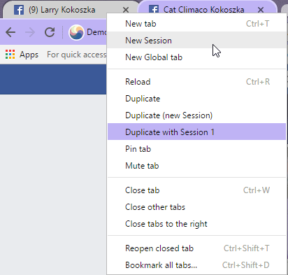 Multi-session management in Ghost Browser