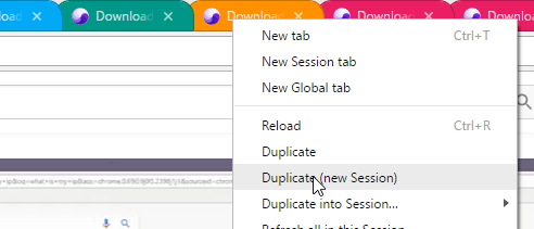Duplicate into New Session